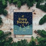 Create special holiday card packages for friends and family you can't visit