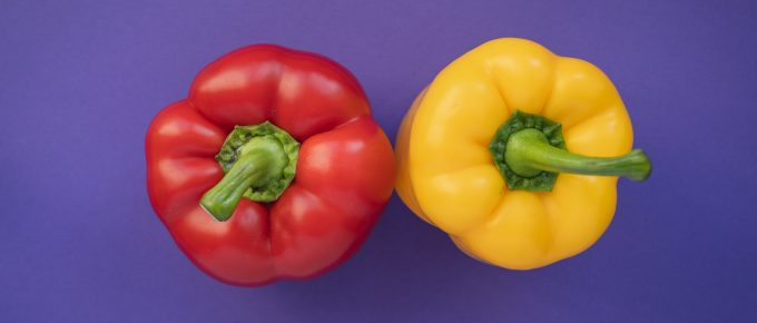 How to freeze red or green peppers